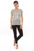 Lulu Castagnette T-shirt Muse Gris