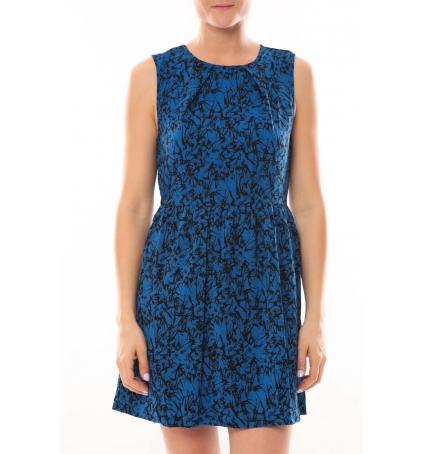 Vero Moda Robe Noel SL Mini Dress Mix Wall 10087646 Bleu