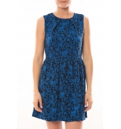 Vero Moda Robe Noel SL Mini Dress Mix Wall 10087646 Bleu
