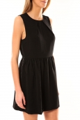 Vero Moda Robe SL Mini Dress Mix Wall 10087646 Noir