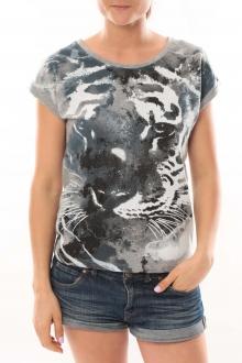 L'Atelier du Marais T-Shirt Tiger Gris