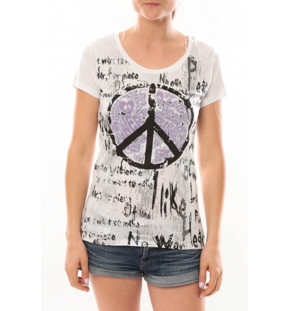 l 39 atelier du marais t shirt peace and love. Black Bedroom Furniture Sets. Home Design Ideas