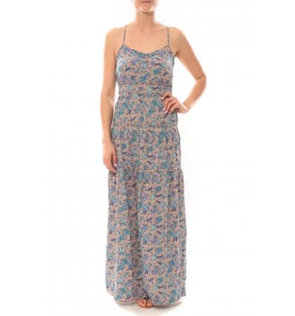 Vero Moda Paisilla Mace S/L Maxi Dress 101077004 Beige
