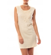 Vero Moda Starlight SL Mini Dress 10107349 Beige