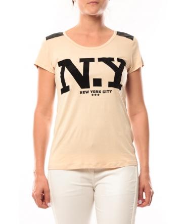 Dress Code T-Shirt Love Look NY 1660 Beige