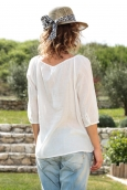 Vero Moda Fig 3/4 Top GA IT 10107504 Blanc