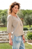 Vero Moda Fig 3/4 Top GA IT 10107504 Taupe