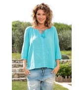 Vero Moda Fig 3/4 Top GA IT 10107504 Bleu