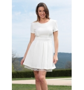 By La Vitrine Robe Ivivi W1505 Blanc