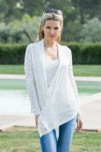 Vero Moda Fast Egypt L/S Drapy Cardigan It 10112493 Blanc