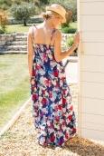 Vero Moda Flower Elysee Ancle Singlet Dress 10110194 Bleu