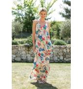 Vero Moda Flower Elysee Ancle Singlet Dress 10110194 Blanc