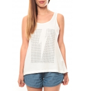 Vero Moda Rock S/L Studs Ligh Top Box It 10108858 Blanc