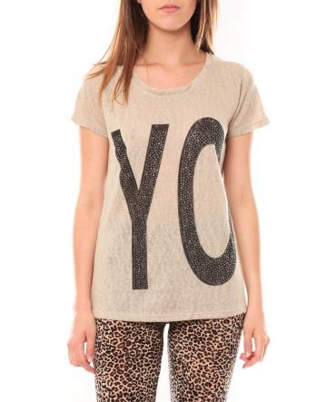 TCQB Tee shirt SL1511 Beige