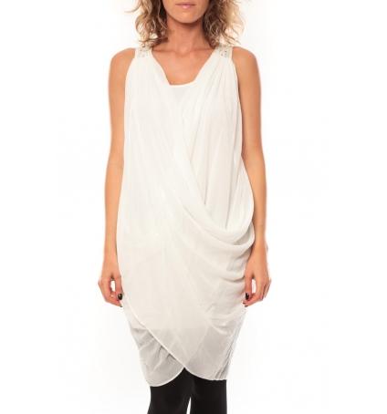ROBE Blakie SL Short Dress  Blanc