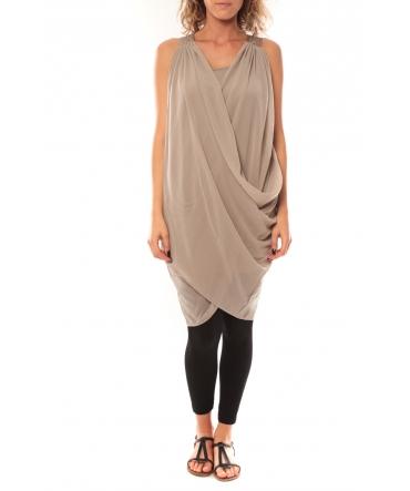 Vero Moda Blakie SL Short Dress 10110956 Taupe