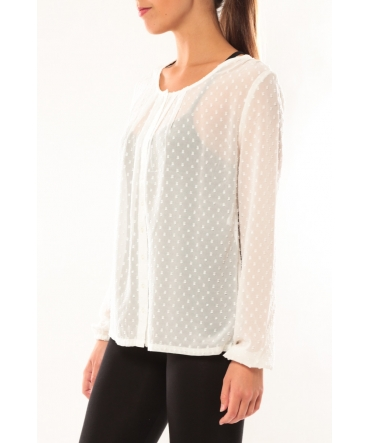 Vero Moda Stories L/S Shirt It 10115643 Blanc