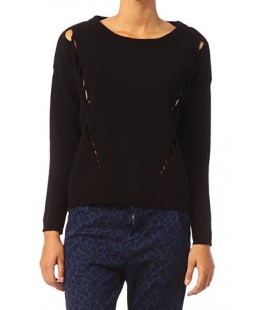 Vero Moda Parma New LS Oversize Blouse 10119636 Noir