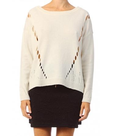 Vero Moda Parma New LS Oversize Blouse 10119636 Blanc