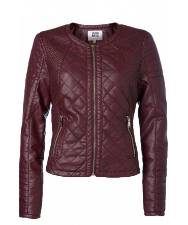 Vero Moda Sanna Short PU Jacket 10113310 Lie de vin