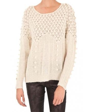 Vero Moda Carrara LS O-Neck Rep 1 10119638 Blanc