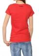 Desigual T-shirt San Valentin Wowan 35Z2464 Rouge