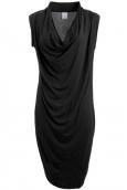 Vero Moda Dina Drapy S/L Short Dress It Noir
