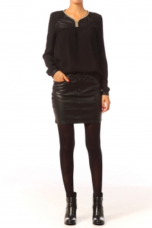 Vero Moda Wonder NW Short PU Skirt 10117232 Noir