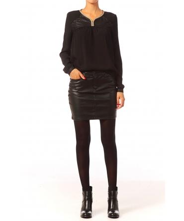 Vero Moda Wonder NW Short PU Skirt 10117232 Noir