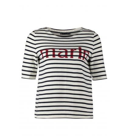 Petit Bateau Tee-shirt Marinière 1078949240 Blanc