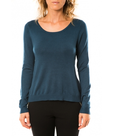 Vero Moda Glory Eve LS Zipper Blouse 10114841 Marine