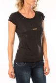 Lulu Castagnette T-shirt Chicos Noir