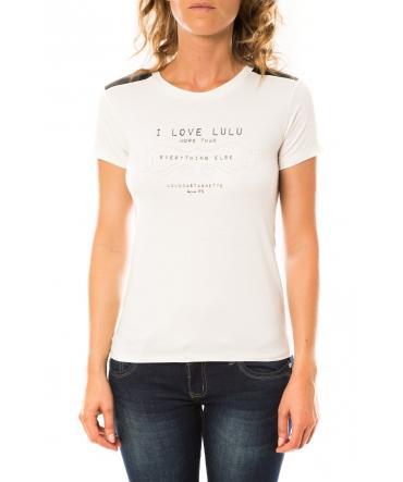 Lulu Castagnette T-shirt Funk Blanc