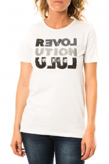 Lulu Castagnette T-shirt Sequy Blanc