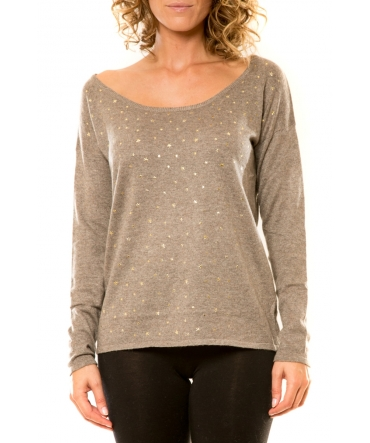 Vision de Rêve Pull 12030 Taupe