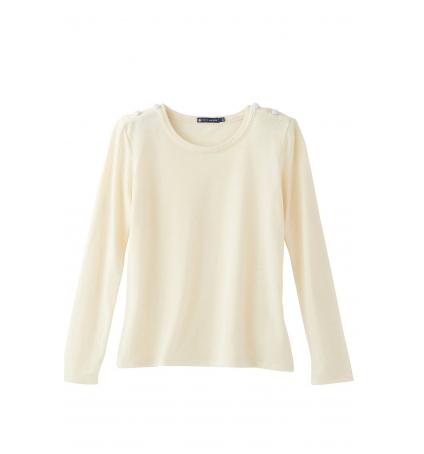 Petit Bateau T-shirt Manches Longues 10622 522 Écru