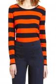 Petit Bateau Tee Shirt ML 112175921 Orange/Bleu
