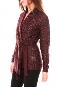 Vero Moda Zahra LS Wrap Cardigan 10114389 Prune