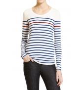 Petit Bateau Tee Shirt ML 1060664210 Blanc/Bleu