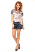 Coquelicot T-shirt CQTW14321 Blanc/Bleu