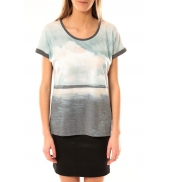 Vero Moda Cloud SS Top 10096122 Gris