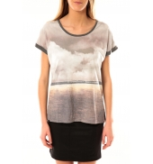 Vero Moda Cloud SS Top 10096122 Gris JAUNE