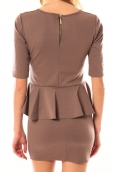 TCQB Robe Moda Fashion Marron