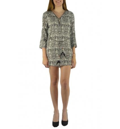 De Fil En Aiguille Robe Noémie & Co E1485-13 Noir/Blanc