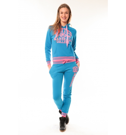 Ensemble Jogging United Marshall Bleu/Rose