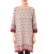 Dress Code Robe Moda H G-0097-28 Beige/Rouge