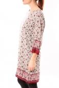 Dress Code Tunique Moda H G-0097-28 Beige/Rouge