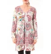 Dress Code Robe Moda H G-0080-3 Blanc/Rose