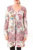 Dress Code Tunique Moda H G-0080-3 Blanc/Rose