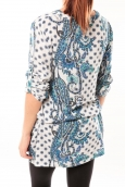 De Fil en Aiguille Robe Love Look B 40 Bleu/Blanc